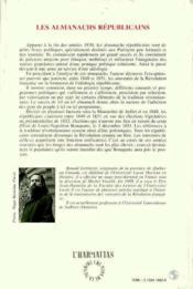 Les almanachs républicains - Couverture - Format classique