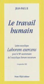 Lettre Encyclique Laborem Exercens - Le Travail Humain - Couverture - Format classique