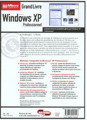 Grand Livre Windows Xp Pro. - 4ème de couverture - Format classique