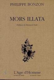 Mors Illata - Couverture - Format classique