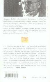 Paris en quatrains - 4ème de couverture - Format classique