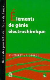 Elements de genie electrochimique 2.tir. - Couverture - Format classique