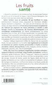 Fruits sante - 4ème de couverture - Format classique