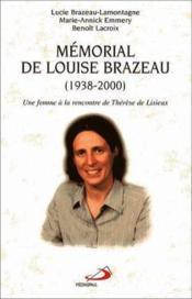 Memorial De Louise Brazeau (1938-2000) - Couverture - Format classique