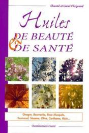Huiles de beauté et de santé - Couverture - Format classique