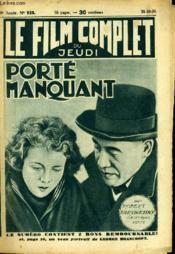 Le Film Complet Du Jeudi N° 928 - 9eme Annee - Porte Manquant - Couverture - Format classique
