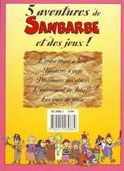 Sanbarbe N.5 ; L'Ordre Regne A Bord - 4ème de couverture - Format classique