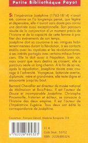 L'impératrice Joséphine - 4ème de couverture - Format classique