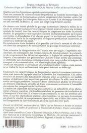 Vingt Cinq Ans D'Evolution De L'Industrie Et Des Territoires Francais - 4ème de couverture - Format classique