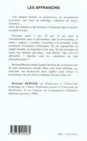 Les Affranchis ; Etiquetes Sdf Drogues Marginaux Inemployables ; Ils S'En Sortis - 4ème de couverture - Format classique