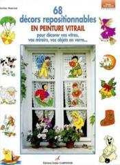 68 Decors Repositionnables En Peinture Vitrail - Couverture - Format classique