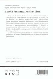 Conte merveilleux au xviiie siecle (le) - 4ème de couverture - Format classique