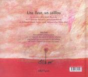 Une Fleur, Un Caillou - 4ème de couverture - Format classique