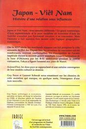Japon - Viet Nam, Histoire D'Une Relation Sous Influences - 4ème de couverture - Format classique