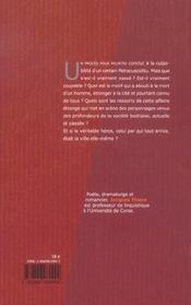 Le ventre de bastia - 4ème de couverture - Format classique