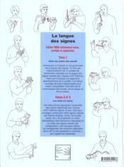 La langue des signes t.1 ; histoire et grammaire - 4ème de couverture - Format classique