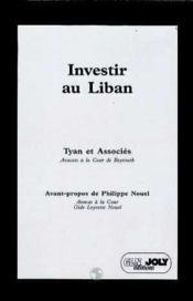 Investir au liban - Couverture - Format classique