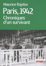 Paris 1942 ; Chroniques D'Un Survivant - Intérieur - Format classique