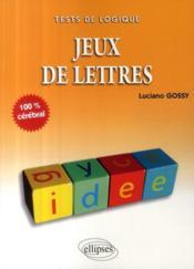 Jeux de lettres - Couverture - Format classique