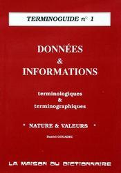 Terminoguide n.1 ; donnees et infos - Intérieur - Format classique