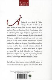 La belle du Saint-Laurent - 4ème de couverture - Format classique