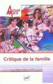REVUE ACTUEL MARX N.37 ; critique de la famille - Intérieur - Format classique