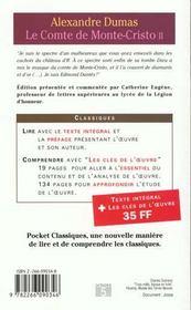 Le comte de Monte-Cristo t.2 - 4ème de couverture - Format classique