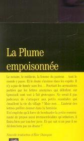 La plume empoisonnée - 4ème de couverture - Format classique