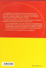 Dictionnaire Mots Et Expressions Espagnol - 4ème de couverture - Format classique