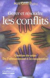 Gerer et resoudre les conflits - Intérieur - Format classique