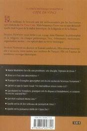 La vérité historique derrière le code da vinci - 4ème de couverture - Format classique