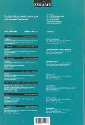 Concours sesame ; annales ; sujets et corrigés officiels (édition 2004) - 4ème de couverture - Format classique