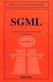 Sgml Un Outil Pour La Gestion Electronique De Documents - Couverture - Format classique