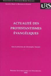 Actualite Des Protestantismes Evangeliques - Intérieur - Format classique