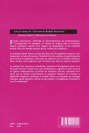 Actualite Des Protestantismes Evangeliques - 4ème de couverture - Format classique
