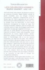 Les coeurs des hommes ; sigrid undset, une vie - 4ème de couverture - Format classique