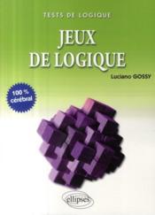 Jeux de logique - Couverture - Format classique