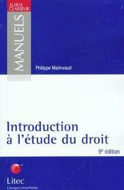 Introduction a l'etude du droit - Intérieur - Format classique