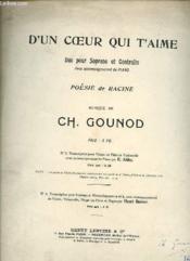 D'Un Coeur Qui T'Aime (Duo Pour Soprano Et Contralto). - Couverture - Format classique