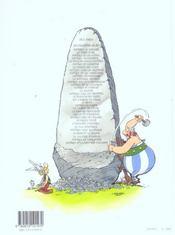 Astérix T.15 ; la zizanie - 4ème de couverture - Format classique