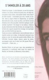 S'immoler à vingt ans, une infirmière française en Afghanistan témoigne - 4ème de couverture - Format classique