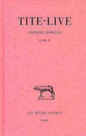 Histoire romaine t4 l4 - Couverture - Format classique