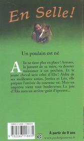 En selle t.1 ; un poulain est né - 4ème de couverture - Format classique
