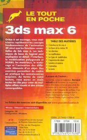 3ds max 6 - 4ème de couverture - Format classique