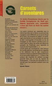 Carnets D'Aventures - 4ème de couverture - Format classique