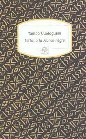 Lettre à la France nègre - Intérieur - Format classique
