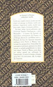 Lettre à la France nègre - 4ème de couverture - Format classique