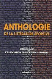 Anthologie de la littérature sportive - Couverture - Format classique