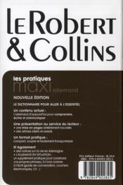 Dictionnaire maxi Robert & Collins ; français-allemand / allemand-français - 4ème de couverture - Format classique