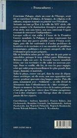 La pologne au xxe siecle - 4ème de couverture - Format classique